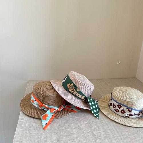 Chiffon Straw Hat