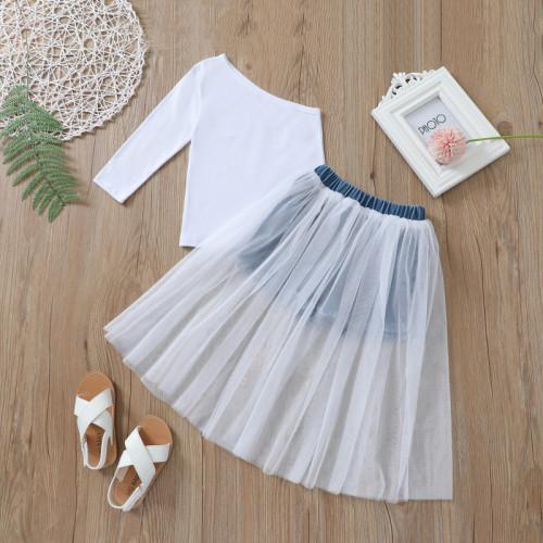 2pcs Mesh Skirt Set