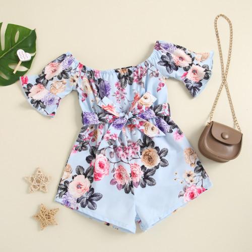 Rose Print Bow Jumpsuit