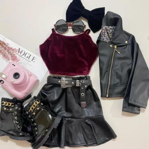 2pcs Ruffle Skirt Set