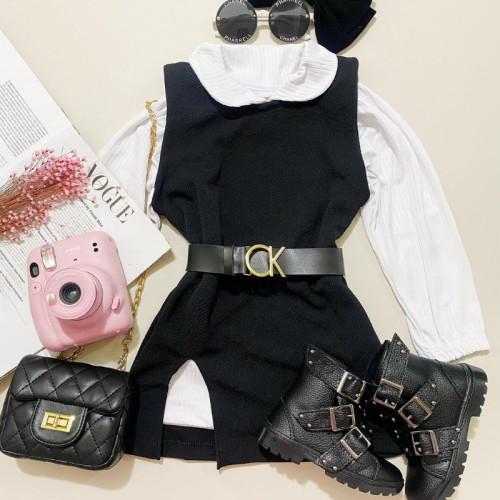 2pcs Long sleeve Dress Set