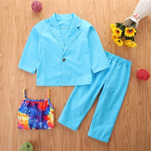 3pcs Tie dye Coat Set