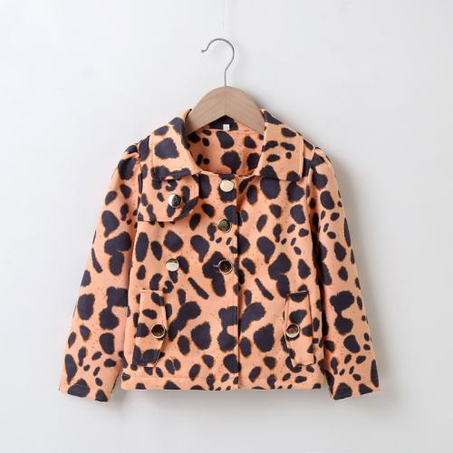 Leopard Long sleeve Coat
