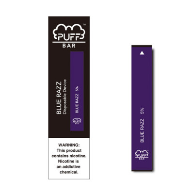 Puff Bar Blue Razz is one of the most popular puff bar flavors
