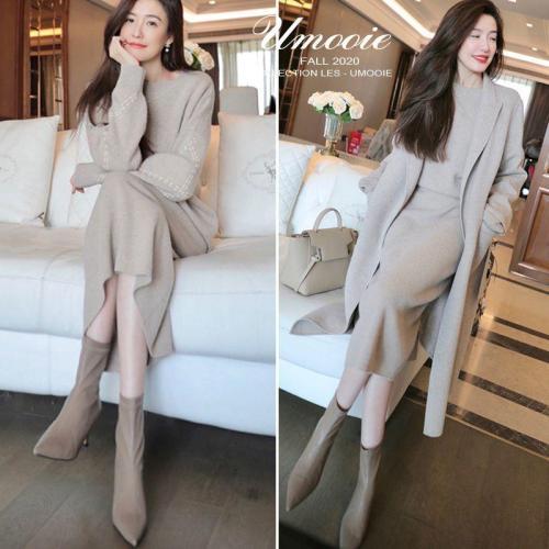 【日本精緻なスーツ針織套裝】溫暖升級,雙股加厚,軟糯溫柔,穿上就是氣質美女!