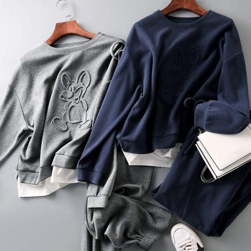 【日本のな加厚加絨羊羔絨運動套裝】溫暖品質好,簡單舒適