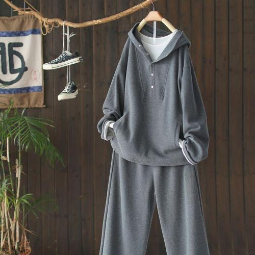 【日本のな休衛衣閒套裝闊腿褲兩件套2020秋冬】棉絨面料,質感很好,寬鬆版型,遮肉顯瘦!支持7-11、全家超商取貨