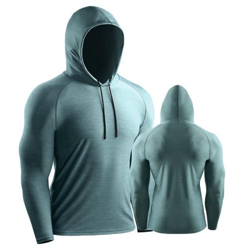 男士運動速乾連帽衛衣 吸濕排汗 微弹加厚、手感顺滑、耐洗、耐磨不起球