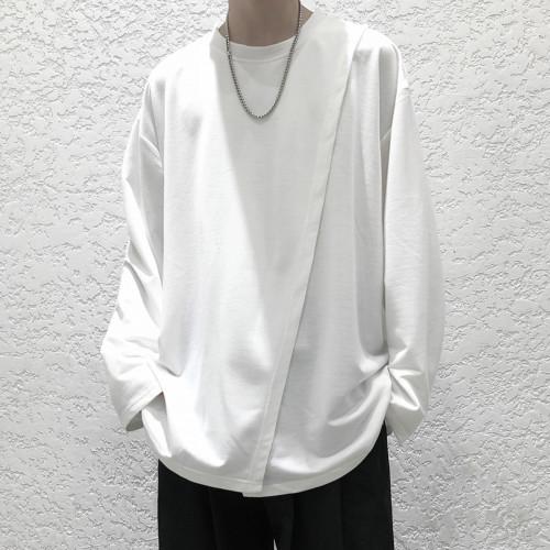 【日本のな原宿風】春季新品暗黑係長袖T恤 寬鬆版型 厚薄合適,可休閒可正式 搭配不費心 質量可放心 不滿意可退換貨