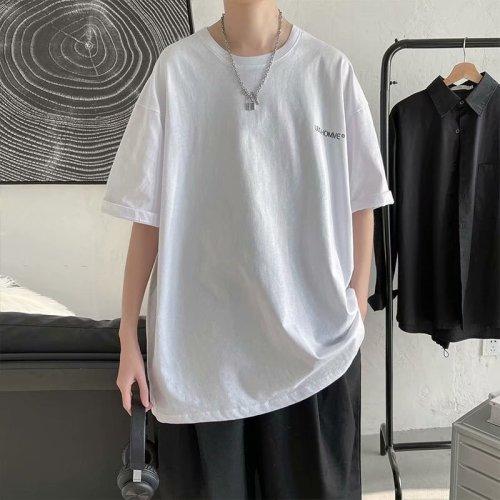 新款潮流港風純色五分袖T恤 專區滿2件立減200 3件減500