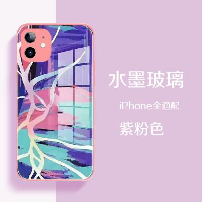iPhone全適配 全新水墨玻璃防護殼 手機殼專區任選2個附贈10000大容量行動電源