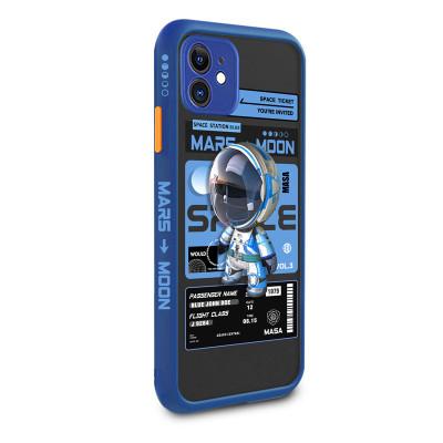 【卡通太空人員】iPhone全適配 液態膚感 硅膠軟TPU手機殼