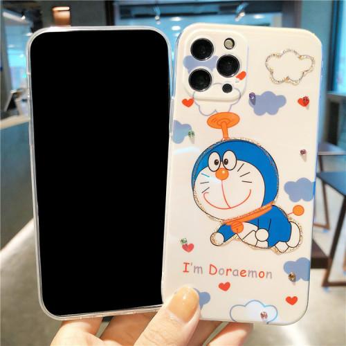 【A夢手機殼】雲朵哆啦A夢卡通適用iphone 閃鑽手機殼  下訂兩個附贈10000大容量行動電源
