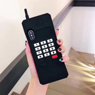 【大哥大手機殼】搞笑创意大哥大电话适用iPhone 硅胶保护殼  下訂兩個附贈10000大容量行動電源