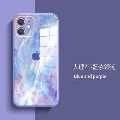 【大理石保護殼】新潮牌大理石水彩玻璃iPhone保護殼