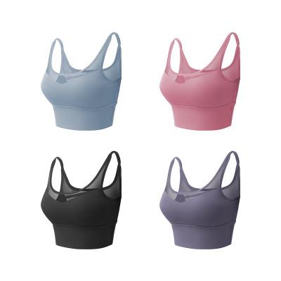 運動內衣 美背交叉bra 防震聚攏定型 運動瑜伽健身細肩文胸