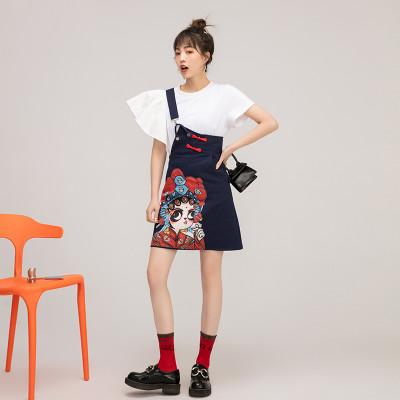 夏季新款戲曲風背帶裙 上新特惠 下訂2件立減200 3件減400