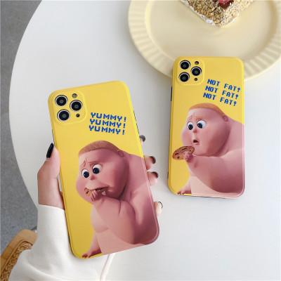 【小胖手機殼】吃貨小胖子情侶卡通iPhone保護殼   任選2個 附贈行動電源