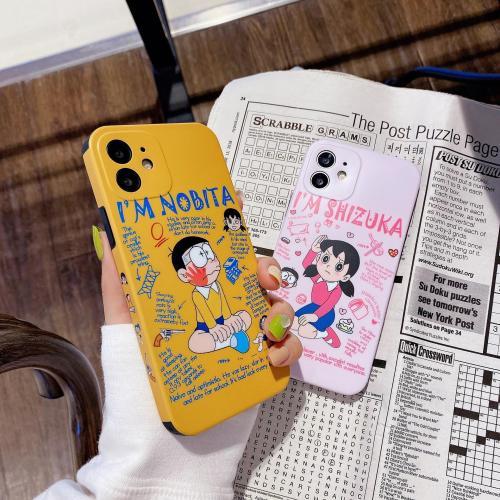 【卡通手機殼】適用iphone 側邊日漫卡通大雄靜香手機殼  全場任選2個 附贈行動電源