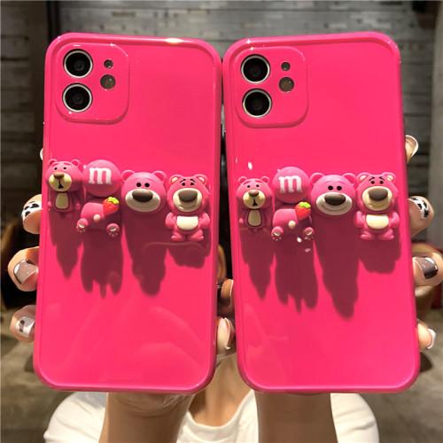 【立體潮牌手機殼】潮牌卡通立體小熊iPhone系列手機殼,直邊設計,全包保護! 任選2個 附贈行動電源