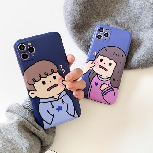 iPhone全適配 原創可愛捏臉手機殼