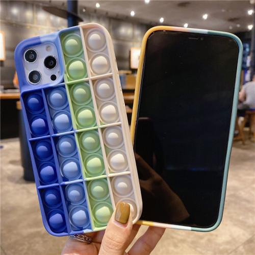 【超解壓的手機殼】iPhone新款豆豆棋硅膠糖果色手機殼!