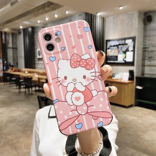 【KT貓硅膠手機殼】適用iphone 全包KT貓硅膠手機殼  任選下訂2個 送大容量行動電源