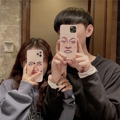 【表情手機殼】適用iphone 惡搞白眼齜牙表情防摔手機殼 全場任選下訂2個 送大容量行動電源