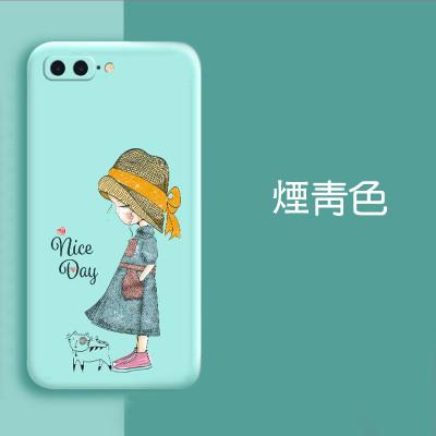 【原創液態女孩防護殼】iPhone原創液態女孩防護殼  手感超舒適 全場任選下訂2個 送大容量行動電源