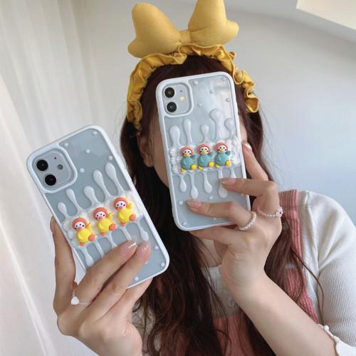 奶油膠趣味手機殼 iPhone全適配,超可愛! 任選2個 附贈行動電源