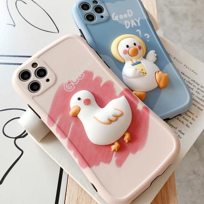 【立體鴨子保護殼】卡通可愛的鴨子保護殼【下訂任意兩款手機殼 附贈大容量行動電源 】