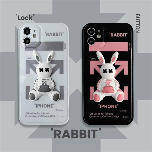 【潮牌立體兔子殼】適用iPhone 潮牌兔子全包防摔手機殼  下訂任意兩款手機殼 附贈大容量行動電源