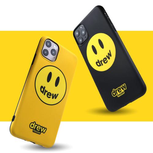 【drew笑臉手機殼】適用iPhone isn潮牌drew笑臉手機保護殼  全倌滿799免運費 附贈大容量行動電源