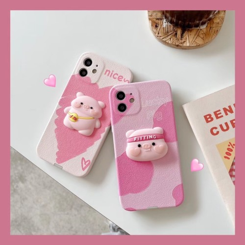 【可愛背包小豬】適用iPhone 可愛背包小豬手機保護殼  全倌滿799免運費 附贈大容量行動電源