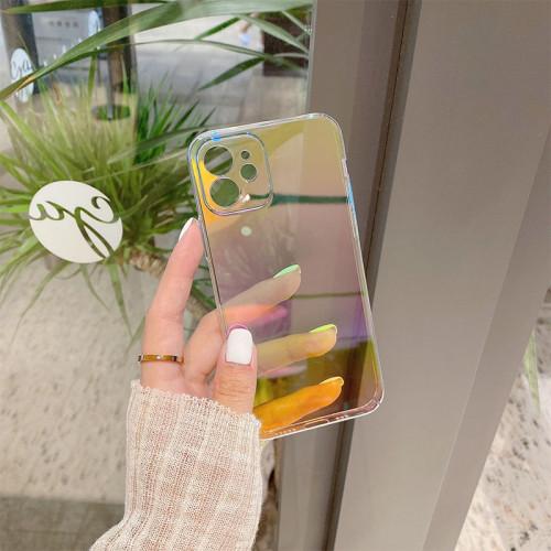 iPhone全適配 漸變透明硬殼 前後四周全包