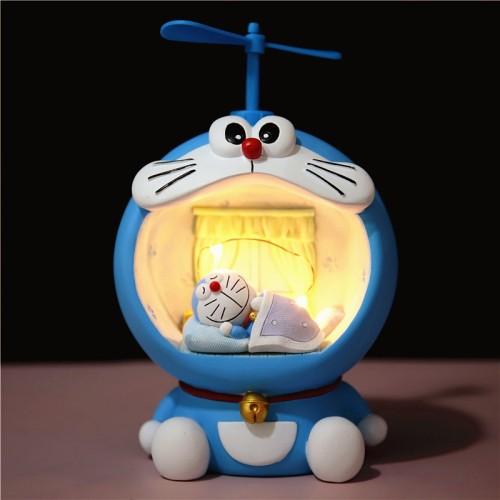 【哆啦A夢擺件】哆啦A夢小夜燈存錢罐擺件,创意可愛卡通禮物