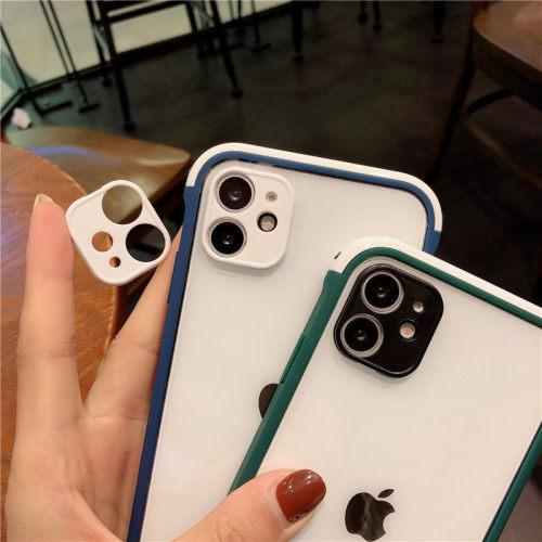 iPhone全適配 雙色拼接防護殼 自帶鏡頭貼 前後四周全包 更全面保護手機