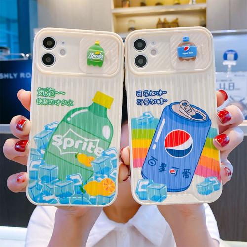 【鏡頭推拉窗】適用iPhone 鏡頭推拉窗系列汽水飲料款手機殼  全倌滿799免運費 附贈大容量行動電源
