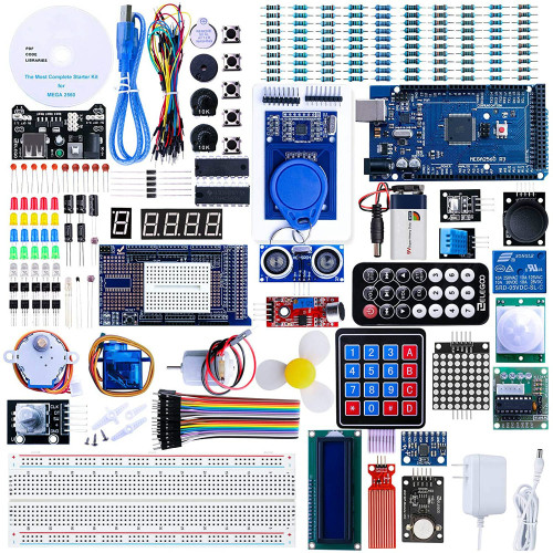 Arduino Mega 2560 Project The Most Complete Ultimate Starter Kit w/Tutorial Compatible with Arduino IDE