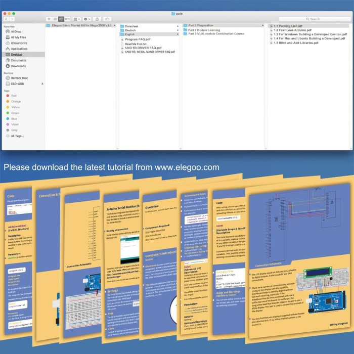 Mega 2560 Basic Starter Kit Compatible With Arduino IDE