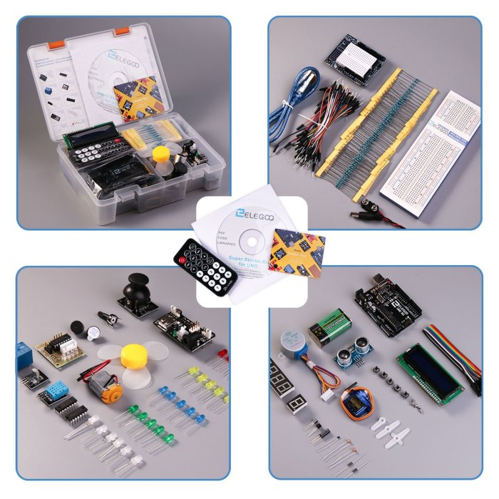 UNO Project Super Starter Kit with Tutorial and UNO R3 Compatible with Arduino IDE