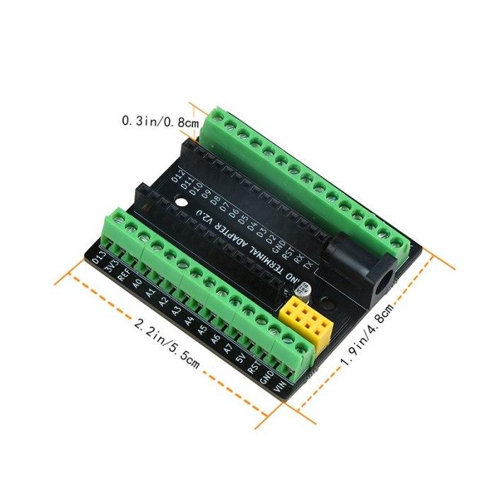 Nano Terminal Expansion Adapter Board for Arduino Nano V3.0 AVR ATMEGA328P with NRF2401+ Expansion Interface DC Power