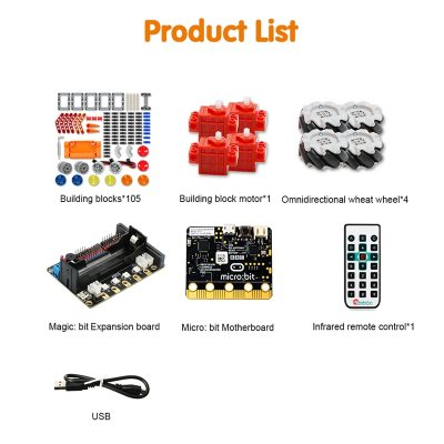 Smart Robot Car Kit  Xiaomai for Micro:bit Robotics Educational kit,Support Makecode Programming,APP and Infrared Remote Control
