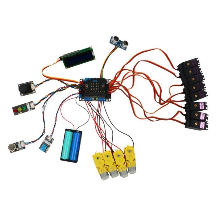 Motor:Bit Multifunctional Motor Drive Expansion Board DC Support 8 servos,Makecode,Scratch3.0,Mixly,Python