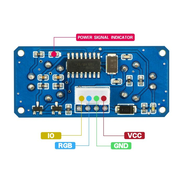 RUS-04 Ultrasonic Module with RGB Light Distance Sensor Compatible HC-SR04 obstacle avoidance sensor for Arduino Smart Car Robot