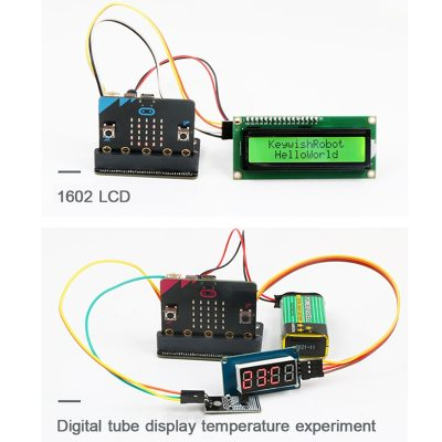 Starter Diy Kit for Micro:Bit, supprot Make Code, Python programming ,Support APP Control, Modularized Device