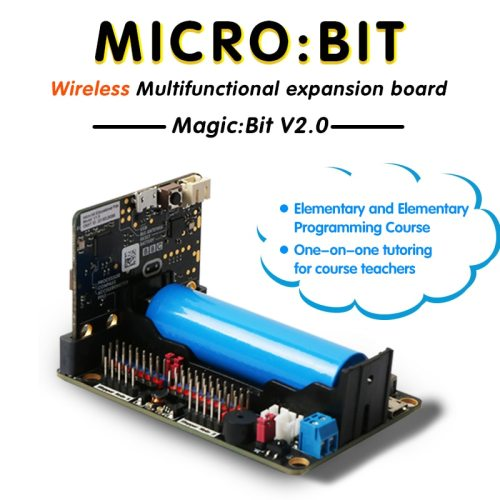 Extension Board for Micro:bit V2.0 Support 8 Servos and 4 DC Motors with Onboard Infrared Receiver and 4 RGB Full Color Lights