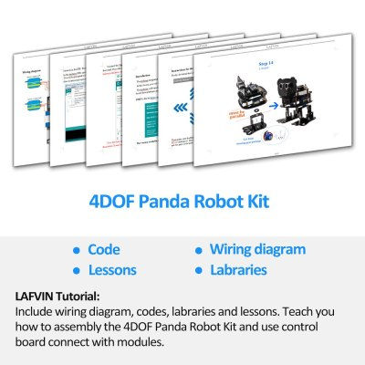 DIY 4-DOF Panda Robot Kit Programmable Dancing Robot Kit For Arduino Nano Electronic Toy/Support Android APP Control