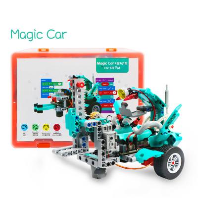 Magic Car Robotics Educational Kits Diy Kit for Magic :Bit ,Support Makecode Graphical Software, Bluetooth and APP control