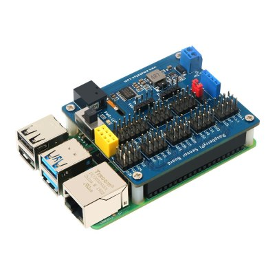 Expansion Board for Raspberry Pi 2B/3B/3B+/4/zero Sensor Board 5V 3A Support 8-channel ADC Reading with MCU